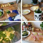 Preirolletjes ham en kaas uit de oven