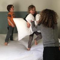 Stoeien met je kinderen is zo leuk!