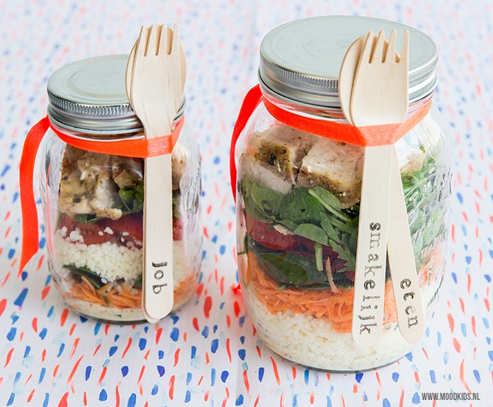 Zomerse salade in een pot 2
