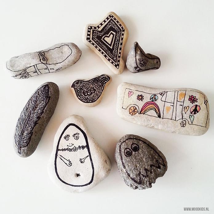 Leuke vakantietip, stenen verzamelen en versieren.