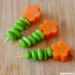 Bento-tips – wortel bloemetjes
