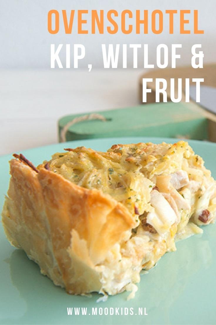 Witlof lusten kinderen vaak wel als het niet te bitter is. In deze ovenschotel kip daarom naast witlof ook fruit. Abrikoos, appel, rozijnen en kokosmelk. Bekijk het recept hier.