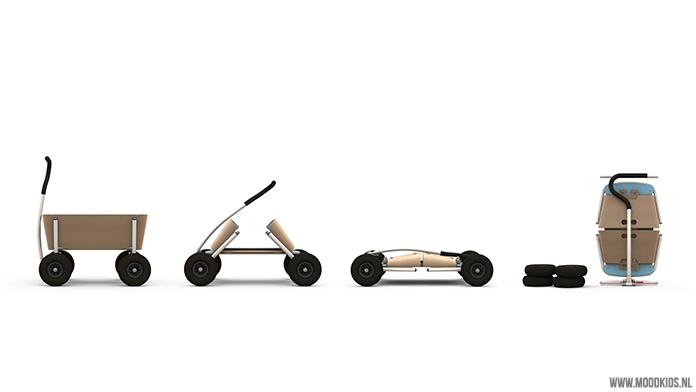 Je hebt 3 kinderen, kan geen bolderkar vinden die thuis in je gang past. En je bent zelf ontwerper? In een notendop: de geboorte van de Jipfish bolderkar. Deze opvouwbare bolderwagen is een plaatje om te zien. Lees hier meer.