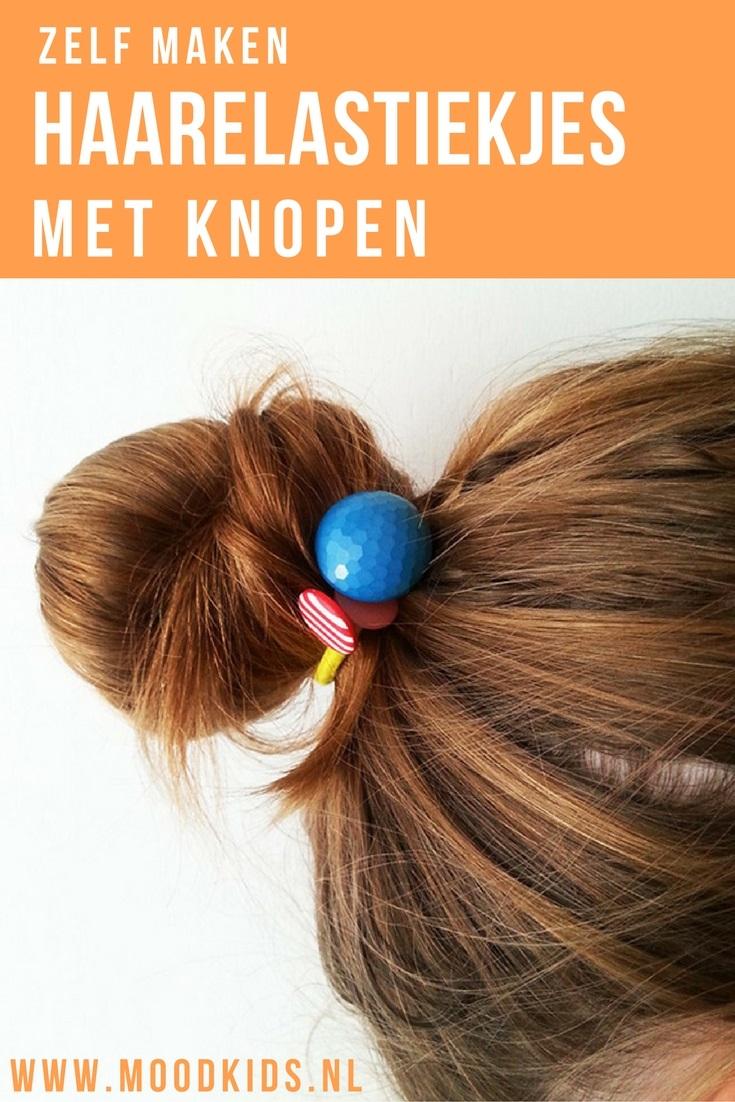 Op zoek naar leuke haaraccessoires om zelf te maken? Voor meisjes met lange haren zijn deze haarelastiekjes met knopen echt heel leuk én makkelijk te maken. Lees hier hoe.