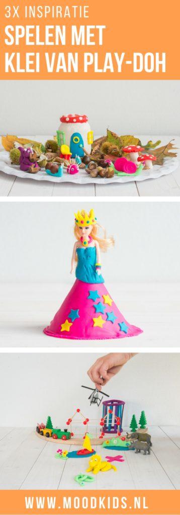 Drie leuke ideeën voor kinderen om te spelen met klei. Maak een herfsttafel, een prinsessenjurk voor je pop. Bouwen en zelf dieren maken van klei. Knutselen met klei.
