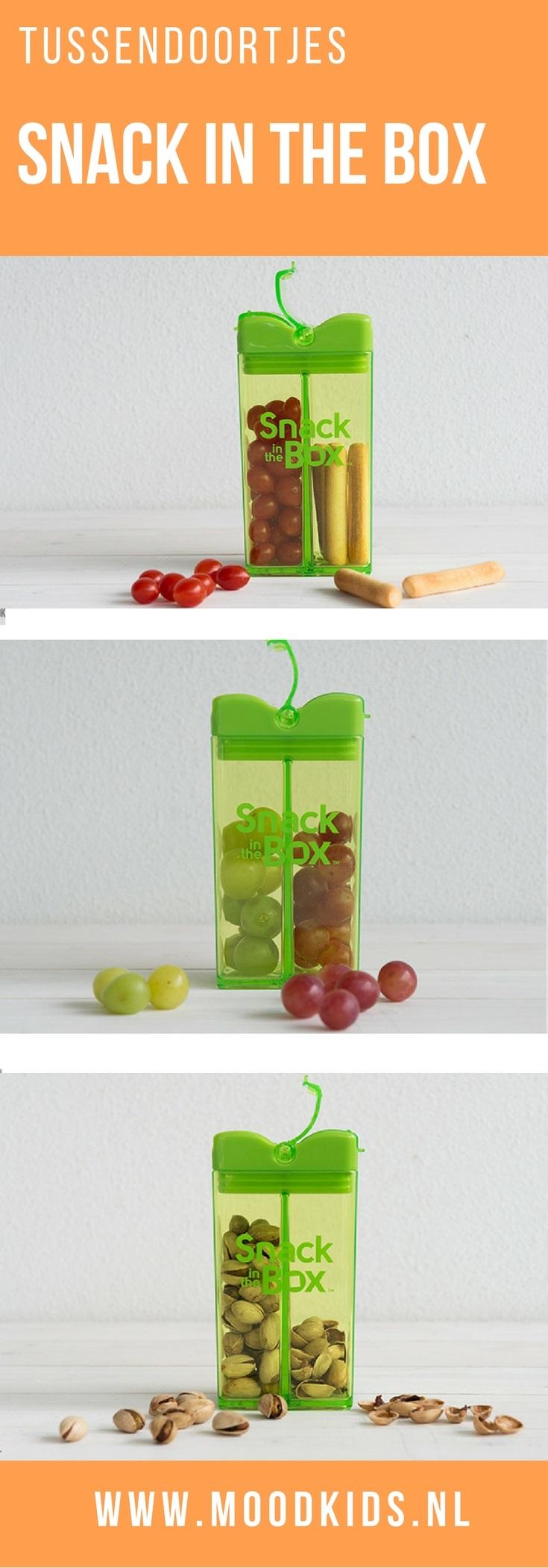 De snack in the box is een handig snackdoosje voor tussendoortjes. Voor op school, in de auto of een dagje uit. We geven je wat voorbeelden.