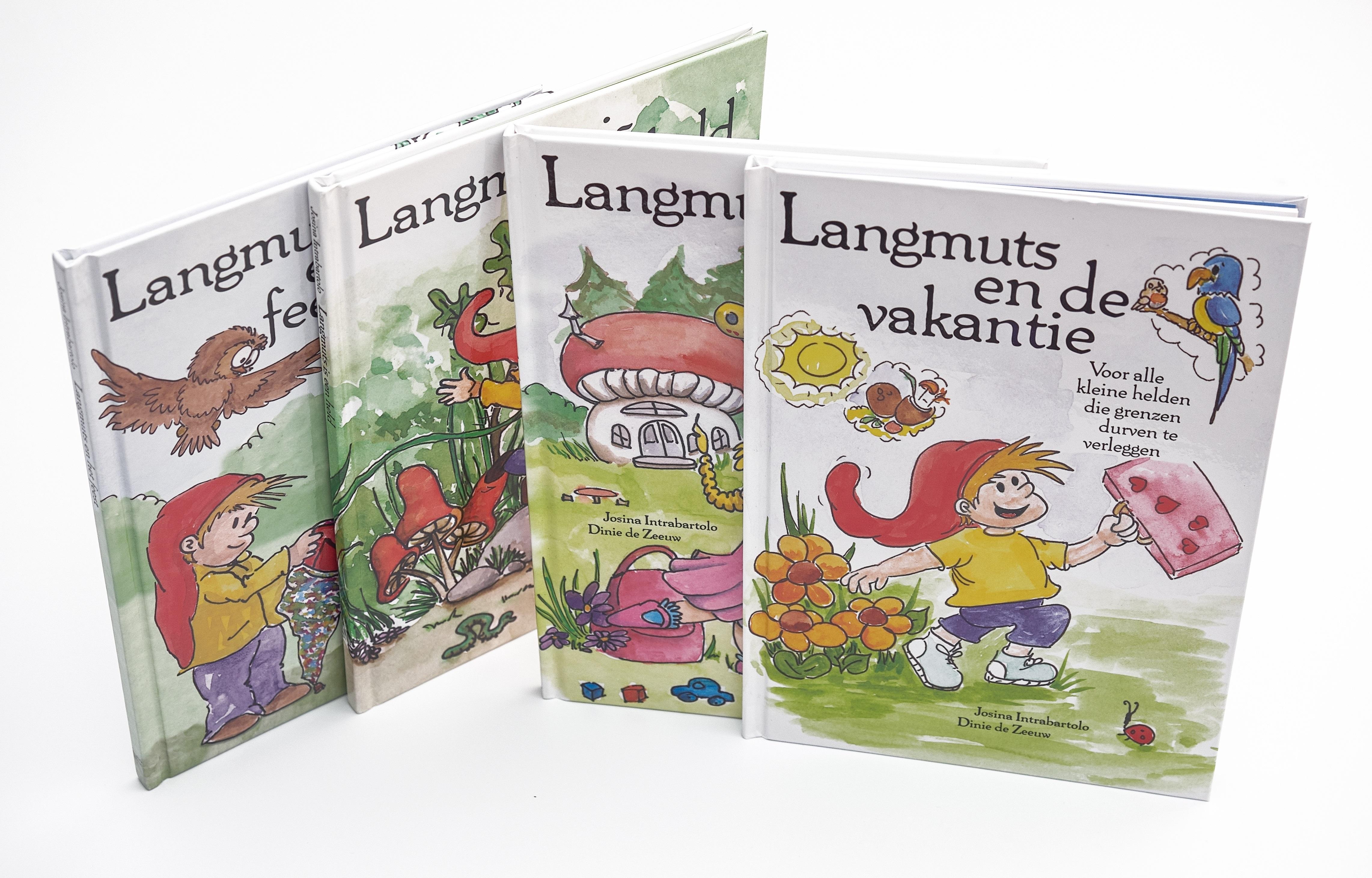 De Langmuts serie bestaat uit boeken voor hooggevoelige kinderen en kinderen die het fijn vinden om structuur te hebben en weten wat er gaat gebeuren.