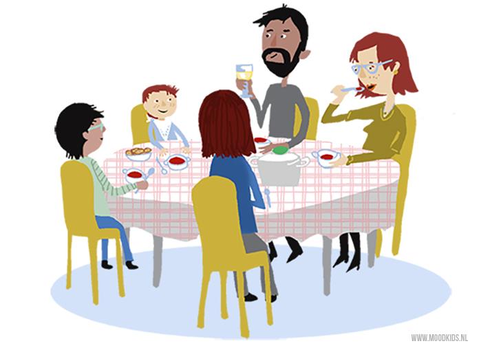 Is het niet altijd even gezellig aan tafel? Kijk dan eens kritisch naar de tafelschikking van je gezin. Kindercoach Charlotte heeft tips.