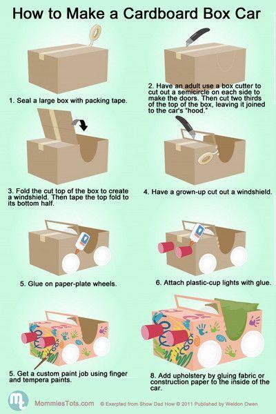 auto-maken-van-een-kartonnen-doos