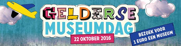Op 22 oktober 2016 bezoek je tijdens Gelderse Museumdag meer dan 70 musea in Gelderland voor slechts 1 euro per persoon. Ook voor volwassenen.
