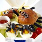 Spinnen lunchtrommel voor de herfst