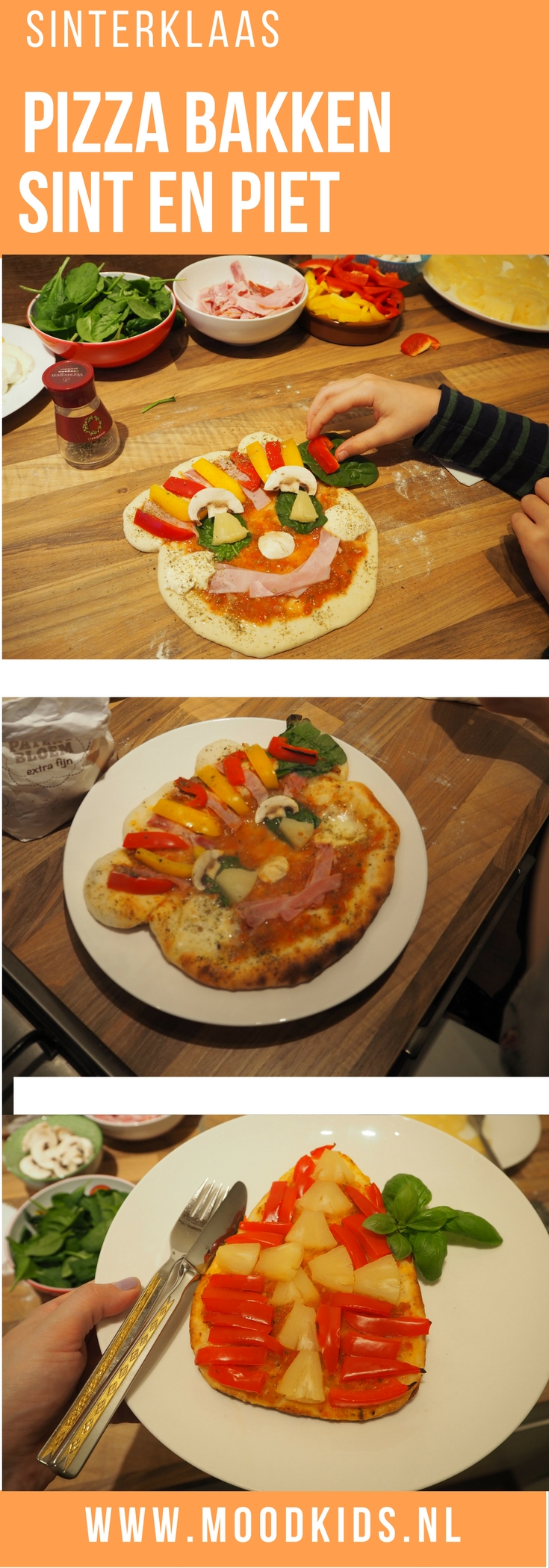 Zelf pizza bakken samen met je kinderen is erg leuk. In de aanloop naar 5 december maak je er dan geen pizza van, maar piet-za. Het recept vind je hier.