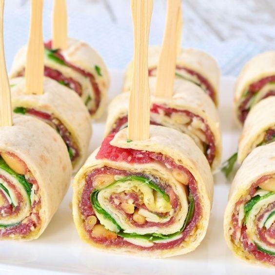 recept voor een lekker hapje! Carpaccio wraps maken van Laura's Bakery