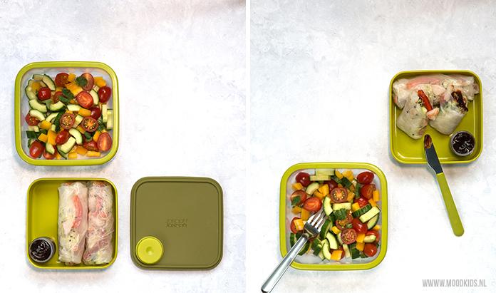 We hebben 3x een lekkere lunchtrommel salade bedacht voor op het werk of onderweg. Deze is met springrolls. Je leest dit recept en de andere twee recepten hier.