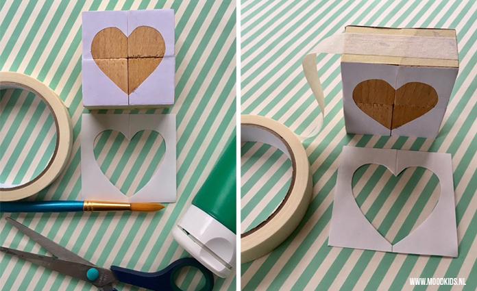 Maak van blokken een leuke, zelfgemaakte puzzel. Suzanne legt je stap voor stap uit hoe je ze maakt. We zijn verliefd op deze Valentijnsdag blokken!
