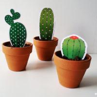 Maak je eigen mini cactus van papier met gratis printable