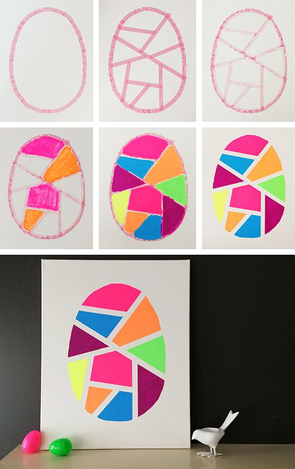 Geometrisch paasei schilderen van Pinksugarland