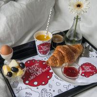 Download deze gratis Valentijnsdag ontbijtset