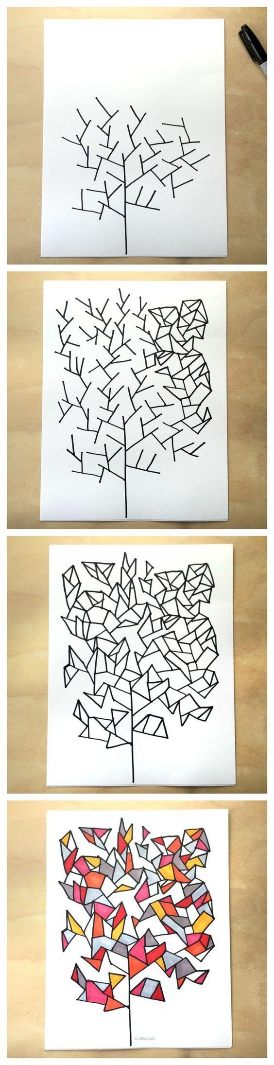 Geometrisch teken spelletje van Craftwhack.com