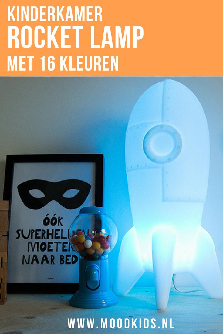 Ken je de Rocket Lamp al? Een stoere lamp voor in de kinderkamer met maar liefst 16 kleuren instelbaar. Ook handig als nachtlampje. Win hem bij MoodKids!