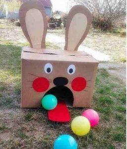 Paashaas ballen spel voor Pasen van Welke