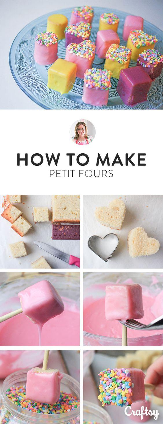 Hoe maak je petit fours? van Craftsy.com