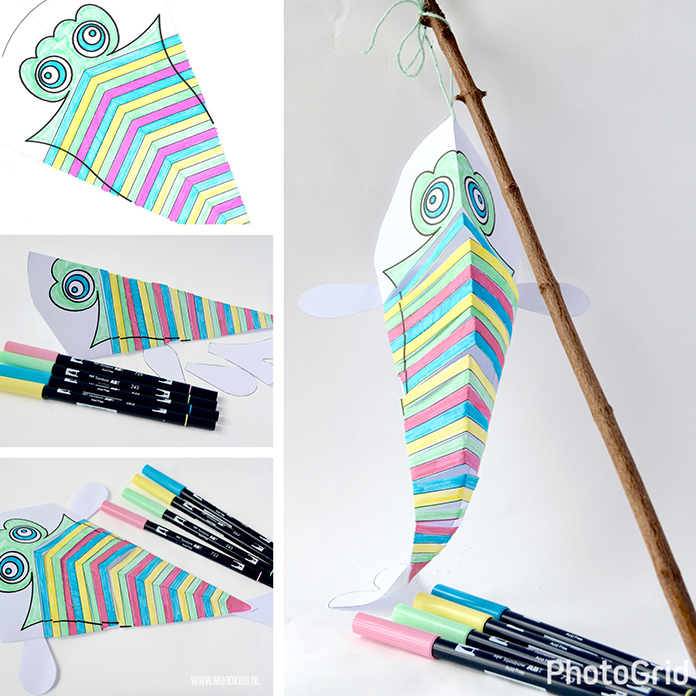Ken je de Japanse koinobori, bij ons bekend als karpervlag? Leuk als versiering voor in je huis of tuin. Roppongi verkoopt ze, maar zelf maken kan ook. Met gratis download.