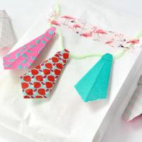 Zelf maken: een origami stropdas voor vaderdag
