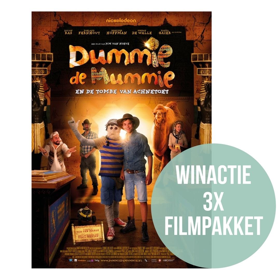 Dummie de Mummie, Goos, Klaas en meester Krabbel; wie kent ze niet? Vanaf 4 oktober verschijnt de nieuwe film van Dummie de Mummie in de bioscoop.