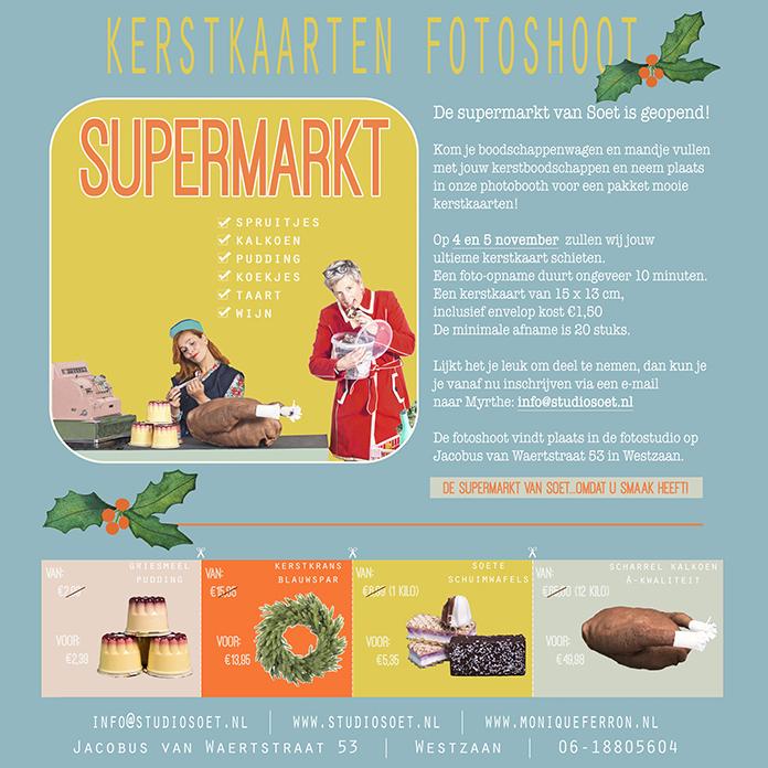 Studio Soet organiseert ook dit jaar weer de kerstkaarten fotoshoot. Elk jaar verzinnen zij een uniek concept voor een originele kerstkaart.