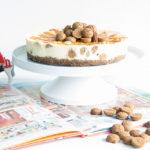 Sinterklaas cheesecake met pepernoten en gezouten caramel