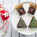 Rendier en Kerstboom brownies zijn cute én lekker!