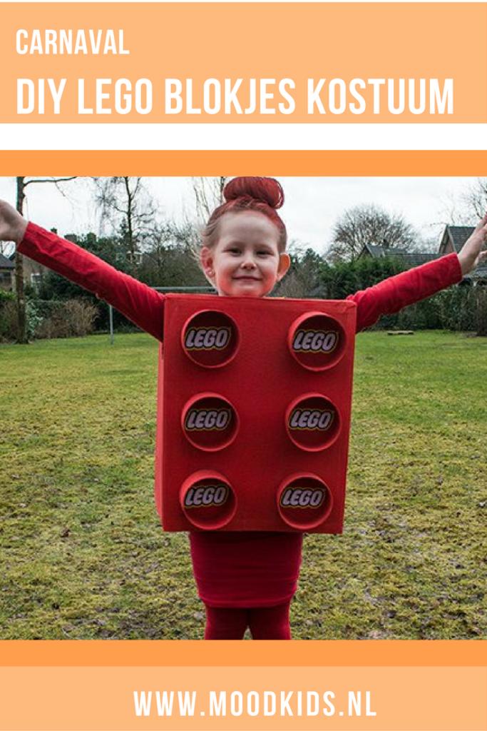 Zelf iets maken of knutselen voor carnaval? Bijvoorbeeld dit leuke lego blokjes kostuum. Lees de beschrijving op de blog. #carnaval #verkleden #lego #knutselen