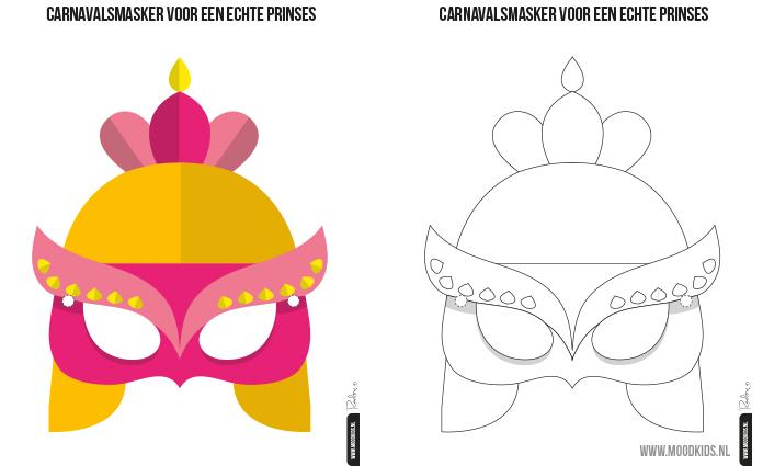 Ridder Masker En Prinses Masker Gratis Printable Moodkids