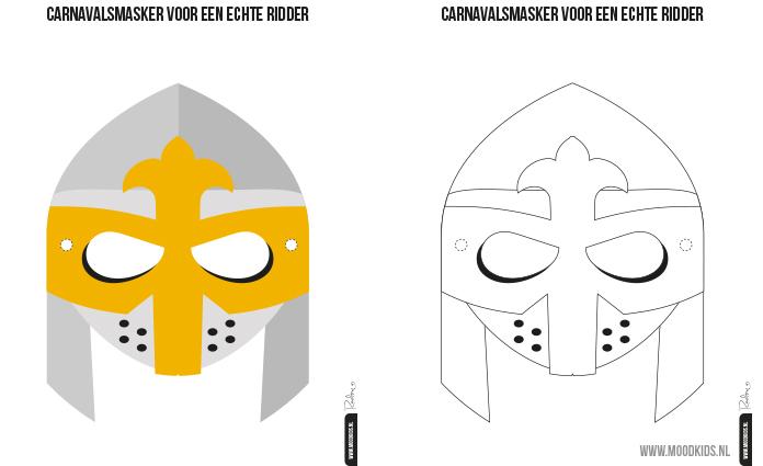 Verkleden blijft leuk. Met een masker wordt verkleden nog leuker. Roelina maakte voor MoodKids een ridder masker en een prinses masker. Eén in kleur en één om zelf in te kleuren. Je kunt ze hier gratis downloaden. Zo wordt verkleden voor bijvoorbeeld carnaval niet alleen leuk, maar zelfs geweldig!