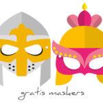 Ridders en schone jonkvrouwen tijdens carnaval
