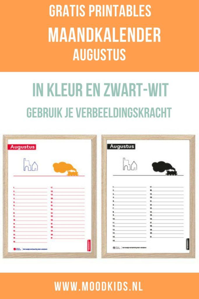 De maandkalender augustus kun je gratis bij ons downloaden. In kleur of in zwart-wit. Hij is zo al mooi, maar je kunt hem ook leuk zelf verfraaien.
