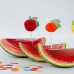 Watermeloen met jelly traktatie