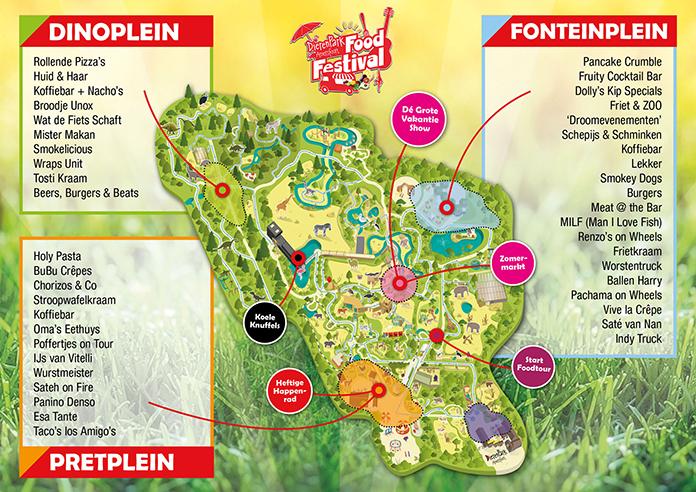 Op16, 17, 18 en 19 augustus 2018 is er weer het DierenPark Amersfoort Foodfestival. Met gereduceerd tarief (5 euro!) kun je dit dierenpark te bezoeken.
