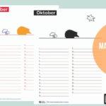 Maandkalender oktober staat voor je klaar!