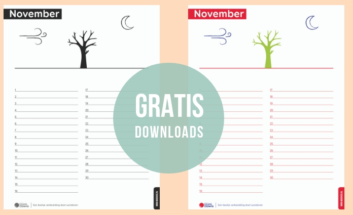 Download hier gratis onze kalender november.
