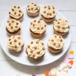 Sinterklaas cupcakes met speculaas topping