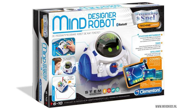 Mind Designer Robot is onderdeel van de Clementoni Coding Lab serie. Met deze set voor kinderen van 8-12 jaar kunnen je kinderen tekenen en leren coderen. #tekenen #robot #coderen