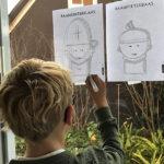 'Oh, kom er eens kijken', een gratis Sinterklaas raamtekening voor jou!