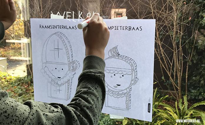 Een raamtekening maken vinden kinderen leuk. Met een krijtstift en deze handige, gratis raamtekening Sinterklaas printables is het een fluitje van een cent.