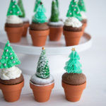 Kerst cupcakes met 3 verschillende kerstbomen