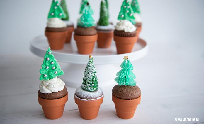 Kerst Cupcakes Met 3 Verschillende Kerstbomen Moodkids