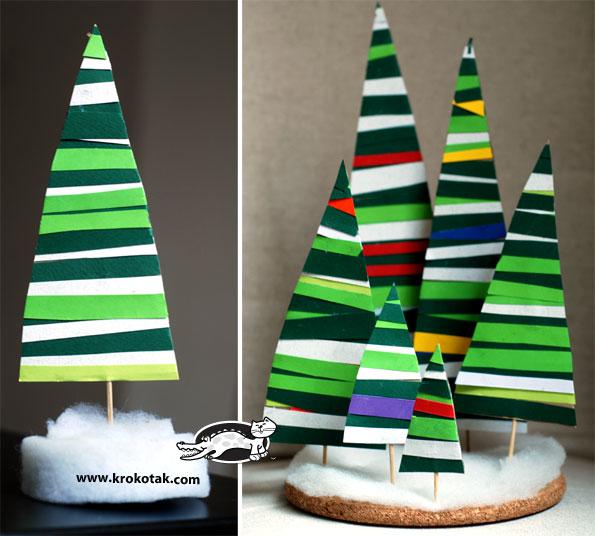 Knutselen voor kerst: maak een kerstboom van papier
