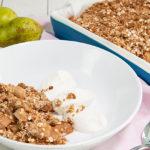 Havermout crumble met peer: lekker & gezond ontbijt!
