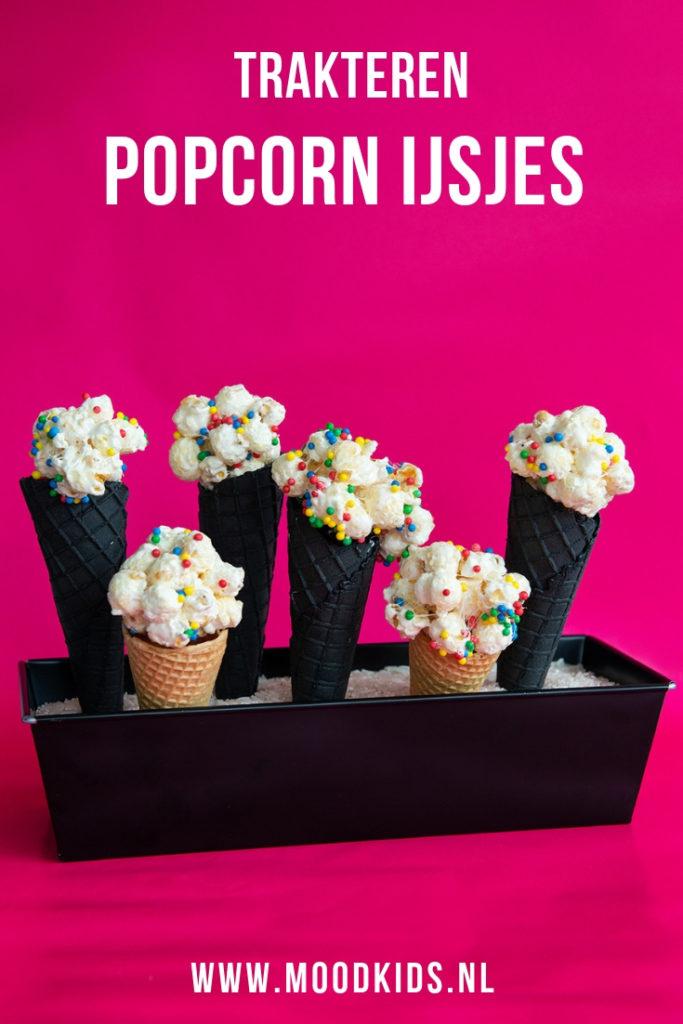 traktatie popcorn ijsjes maken #trakteren #popcorn #jarig